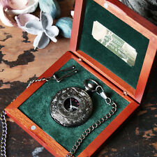 'Gunmetal' Pocket Watch, Personalised Engraved Box, Wedding Groomsmen Gifts