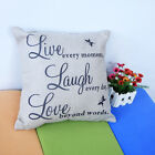1pcs Pillow Case Live Love Laugh words Decals Cushion Cover pillowcase linen