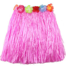 Ladies Women Hawaii Fancy Dress Grass Skirt Hula Hawaiian Full SWUK
