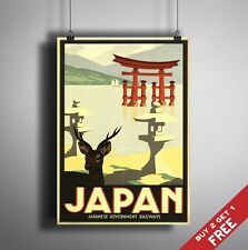 A3 Large JAPAN POSTER Vintage Retro Travel Wall Art Home Decor Colour GLOSSY