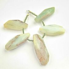 Peruvian OPAL Briolette Beads Large Spectacular Marbled Color 5 Pieces 73.9TCW