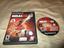 Vintage NBA 2k12 Playstation 2 PS2 Sports Video Game w/ manual COMPLETE RARE