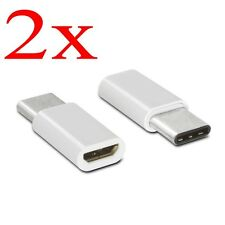 2x USB3.1 Micro USB Female to Type-C Male Converter USB-C Adapter Konverter
