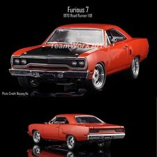GMP 18807  Dom's 1970 Plymouth Road Runner Furious 7 Diecast Model Car 1:18 NEW!