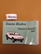2001 01 Isuzu Rodeo Owners Manual Complete Set  all_car_books
