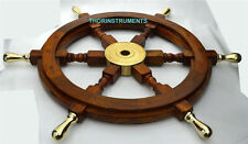 "Authentic! Boat Ships Captains Nautical Ship Wheel 24"" Wooden Steering Wheel"