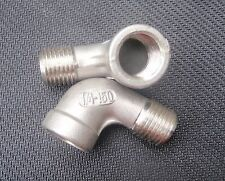 "STAINLESS STEEL STREET 90 ELBOW 1/4"" NPT PIPE SE-025"