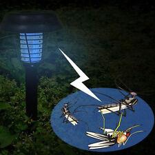 1 x Solar Power UV Garden LED Light Lamp Pest Bug Zapper Insect Mosquito Killer