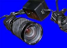 VERY NICE WATEC CCD VIDEO CAMERA WITH COMPUTAR 200 MM LENS AND 12 V POWER SUPPLY