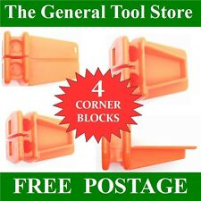 SET 4 BRICKIES LINE BLOCKS. 4 PLASTIC L SHAPED CORNER BLOCKS BRICK LAYING