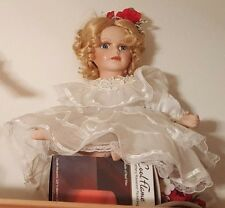 "Heritage Signature Collection Porcelain Doll with COA, Sitting Doll ""Brie"""