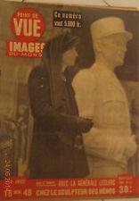 1 REVUE POINT DE VUE 1948 LA GENERALE LECLERC JEAN ANOUILH LES ANGLAIS LEUR ROI
