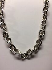 Carolyn Pollack Solid Sterling Silver Link Necklace