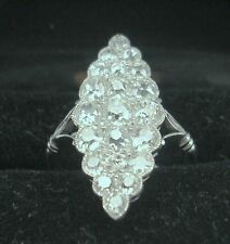 ART DECO RING 3 CT BRILLANTEN DIAMANTEN WIEN VIENNA  3 CT MANY DIAMONDS UM 1920