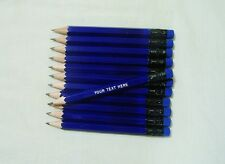 "24 ""NEON BLUE"" Personalized Golf Pencils with Erasers"