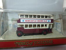 Matchbox MOY Y5C Leyland Titan Bus Coventry Newcastle Brun MIB