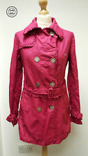 Thomas Burberry Ladies Pink Ruffle Trench Coat Mac, Small