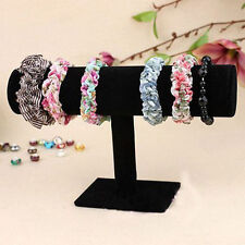 NEW Velvet Bracelet Chain Watch T-Bar Rack Jewelry Hard Display Stand Holder UR