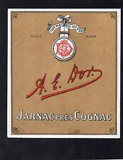 COGNAC VIEILLE LITHOGRAPHIE 19e COGNAC A.E. DOR RARE    §09/09§