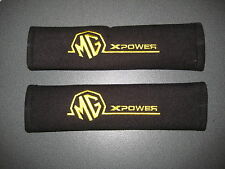 Seat Belt Harness Pads in Black with MG X Power Logo in Yellow MG XPower X-Power
