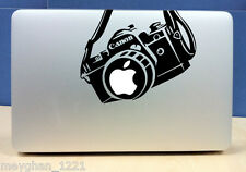 Canon Camera apple sticker BLACK quality vinyl decal Mac Macbook Pro 13 15 17 in