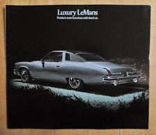 PONTIAC LUXURY LE MANS orig 1974 USA Mkt Large Format Sales Brochure