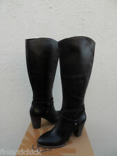 UGG TALL NEOMA BLACK LEATHER ANKLE WRAP HIGH HEEL BOOTS, US 8/ EUR 39 ~ NIB