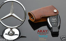 Premium leather case for Mercedes key fob cover holder AMG m b cl e sl G class B