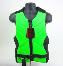 RONIX ONE - FRONT ZIP WAKEBOARD MENS COMP LIFE VEST- GREEN/BLK- SIZE: M - NEW!!!
