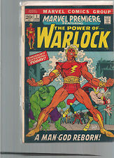 Marvel Premiere #1 First Printing 1972 Comic Book. Warlock!