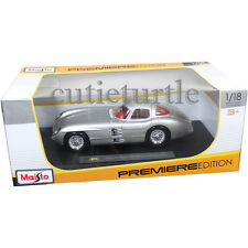 Maisto Mercedes Benz 300 SLR Coupe Uhlenhaut 1:18 Diecast Model Car Silver 36898