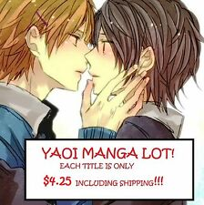 YAOI MANGA LOT!  CHOOSE YOUR TITLE, EACH COPY IS ONLY $4.25!!