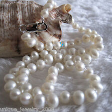 "16"" 5-6mm White AA Freshwater Pearl Necklace Child Jewelry L"