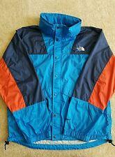 Vintage 90s North Face Mountain Windbreaker Jacket Blue Orange Medium Supreme