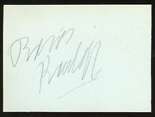 BORIS KARLOFF & MICKEY ROONEY Authentic Hand-Signed 5x3 cut (JSA COA/LOA)