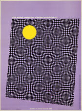 Original Vintage Poster Outdoor Advertising Art Competition 1965 Abstract Purple