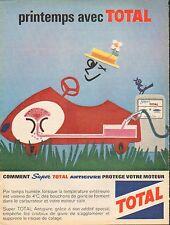 Publicité Advertising 1960 station essence  ... TOTAL