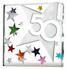 Spaceform Miniature Glass Token 50th Fifty Fiftieth Adult Birthday Gift Box 1777
