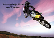 MOTOCROSS  INSPIRATIONAL / MOTIVATIONAL  POSTER