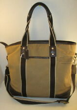 Coach Heritage Web Canvas/Leather Brown Stripe Bag - No. F70578 - P/O