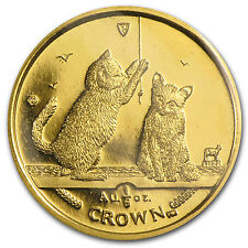 2001 Isle of Man 1/5 Crown Gold Cat Coin - Somali Kittens - SKU #32331