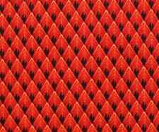 Cotton Quilting Fabric Blank Textiles Geometric Diamonds in Fiery Reds BTY