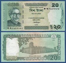 BANLADESCH / BANGLADESH 20 Taka 2012  UNC  P. 55