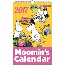 New  Moomin Calendar 2017 * Kawaii  Wall Calendar * Moomintroll * From JAPAN