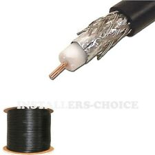1000 ft RG6 Coaxial Cable Dual Shield 18AWG Coax Satellite TV Black