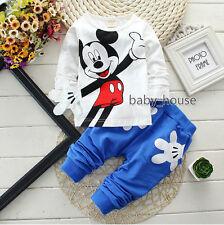 2pcs cotton kids baby boys T shirt + pants Set Outfits summer fall clothing