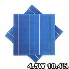10 Pcs A Grade 18.4% 4.5W Solar Cell Polycrystalline 6x6 For DIY Solar Panel