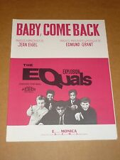 "Equals ""Baby Come Back"" French sheet music"