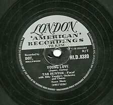 "UK #1 TAB HUNTER 78 "" YOUNG LOVE / RED SAILS IN THE SUNSET ""  LONDON HLD 8330 E-"