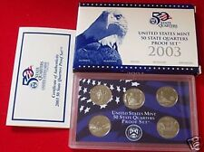 2003 S CLAD PROOF QUARTER SET WITH BOX & COA